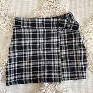 Zara Plaid Mimi Skirt
